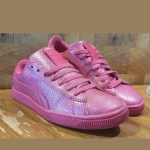 Puma Classic Pink Metallic Sneaker Size 8